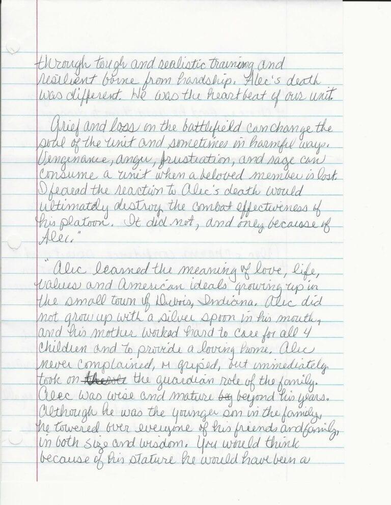 Sandy Terwiske Letter 3