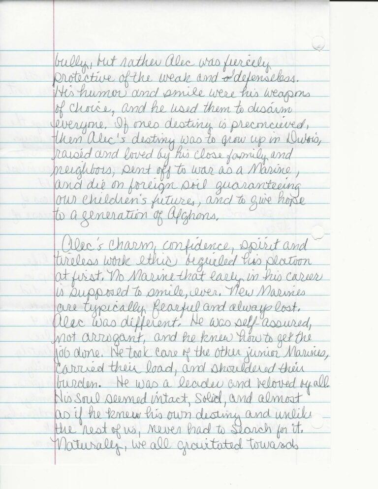 Sandy Terwiske Letter 4