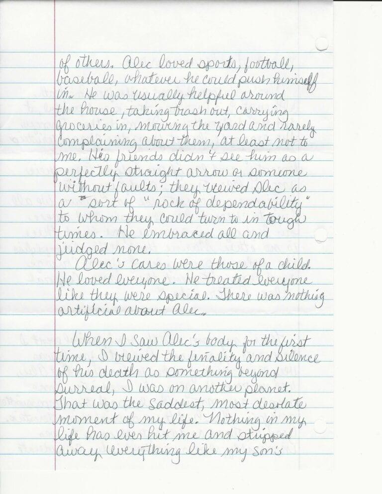 Sandy Terwiske Letter 6